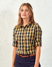 Ladies Mulligan Check Cotton Long Sleeve Shirt